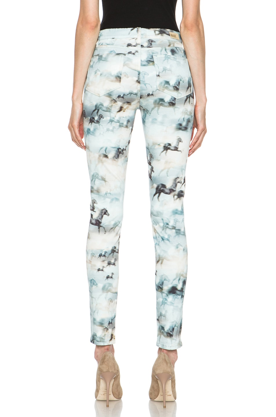 Image 4 of Paige Denim Hoxton Ultra Skinny Jean in Wild Horses
