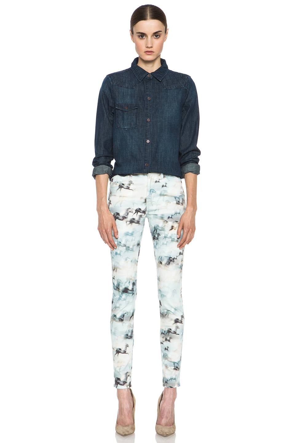 Image 5 of Paige Denim Hoxton Ultra Skinny Jean in Wild Horses