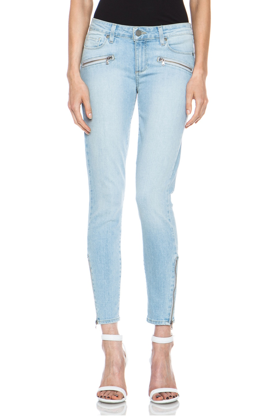 Image 1 of Paige Denim Jane Zip Ultra Skinny Jean in Naomi