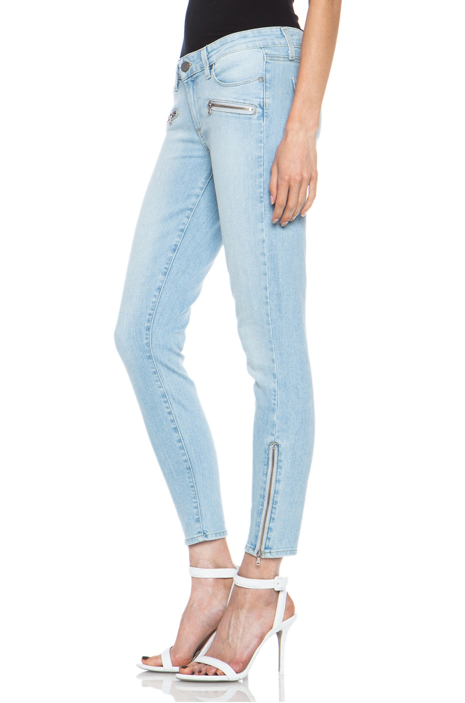 Image 2 of Paige Denim Jane Zip Ultra Skinny Jean in Naomi