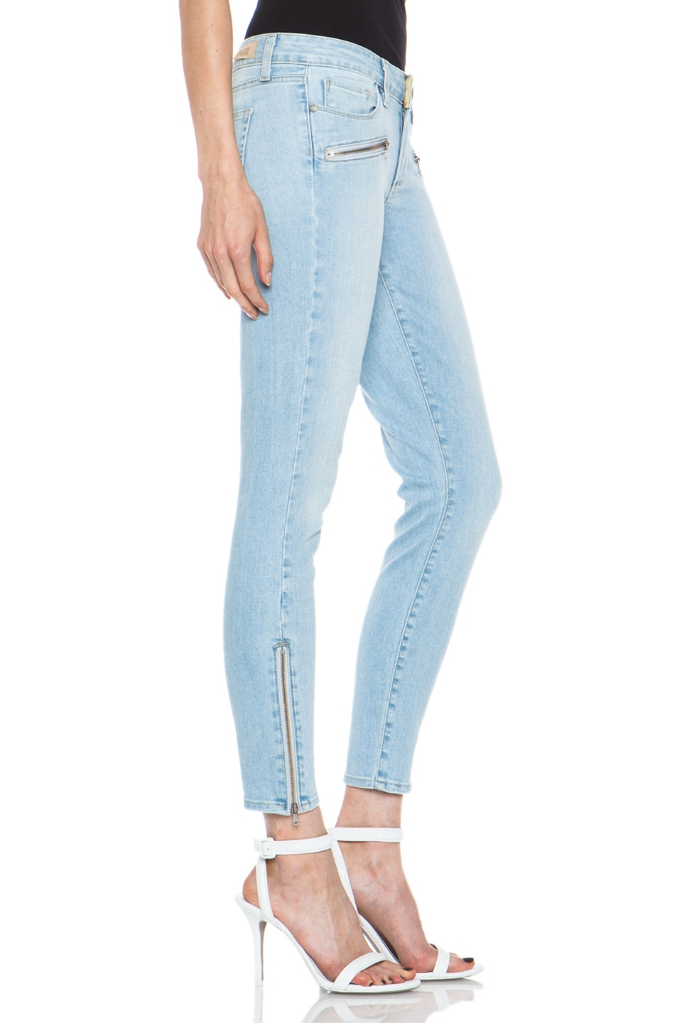 Image 3 of Paige Denim Jane Zip Ultra Skinny Jean in Naomi