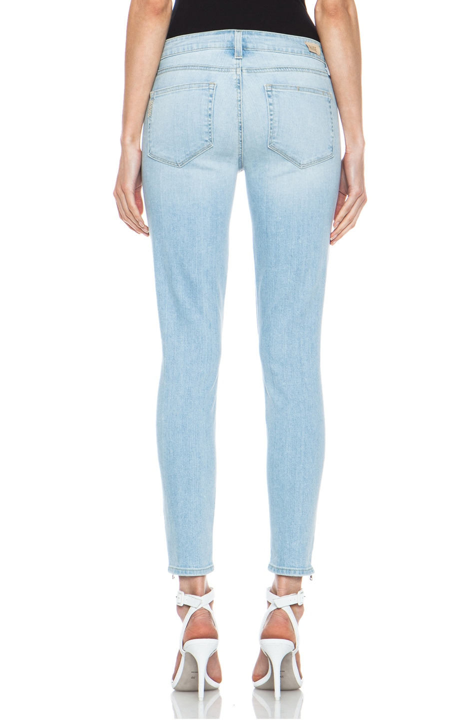 Image 4 of Paige Denim Jane Zip Ultra Skinny Jean in Naomi