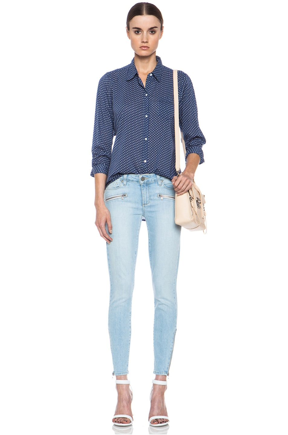 Image 5 of Paige Denim Jane Zip Ultra Skinny Jean in Naomi