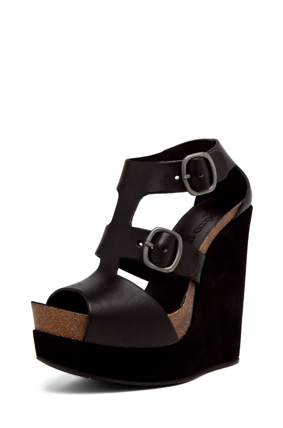 Image 2 of Pedro Garcia Cherise Wedge in Black