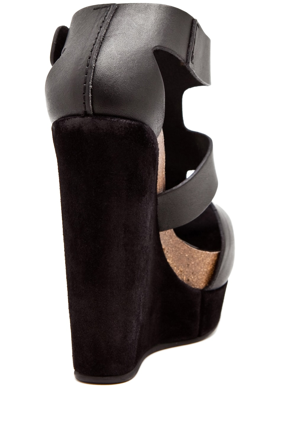 Image 3 of Pedro Garcia Cherise Wedge in Black