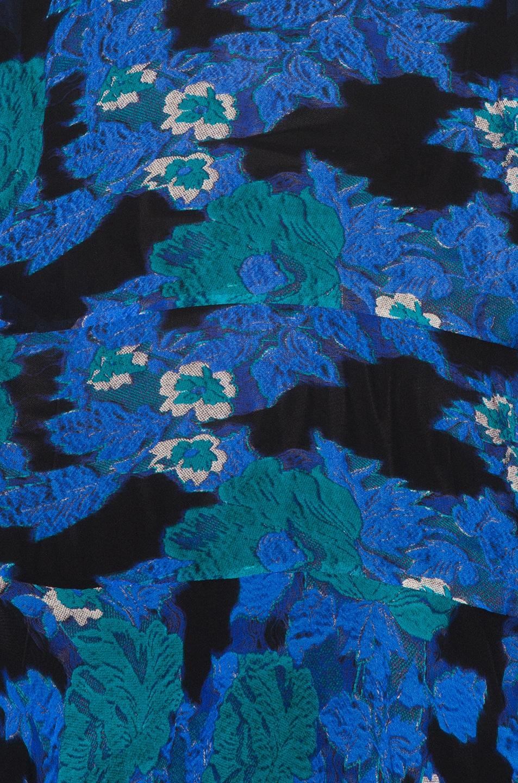 Image 5 of Preen by Thornton Bregazzi Laverne Dress in Cobalt Flower & Sky Leaf