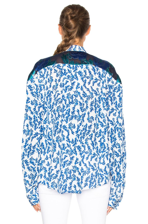 Image 4 of Preen by Thornton Bregazzi Corina Top in Blue & Sky Leaf