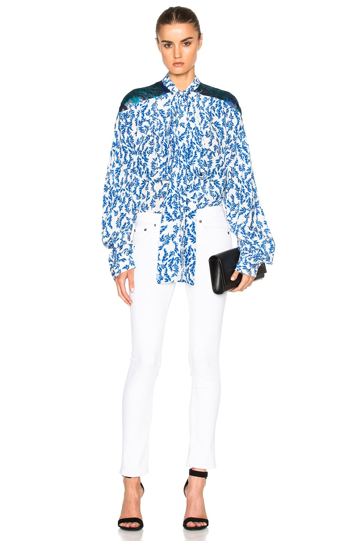 Image 5 of Preen by Thornton Bregazzi Corina Top in Blue & Sky Leaf