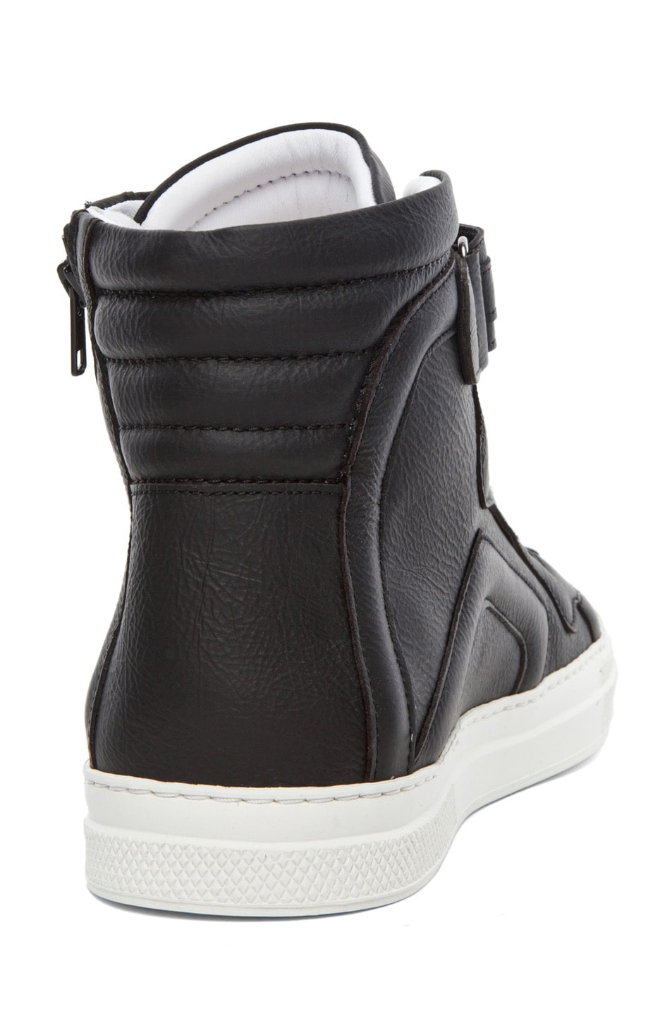 Image 3 of Pierre Hardy Paper Calf Hi Top Sneaker in Black