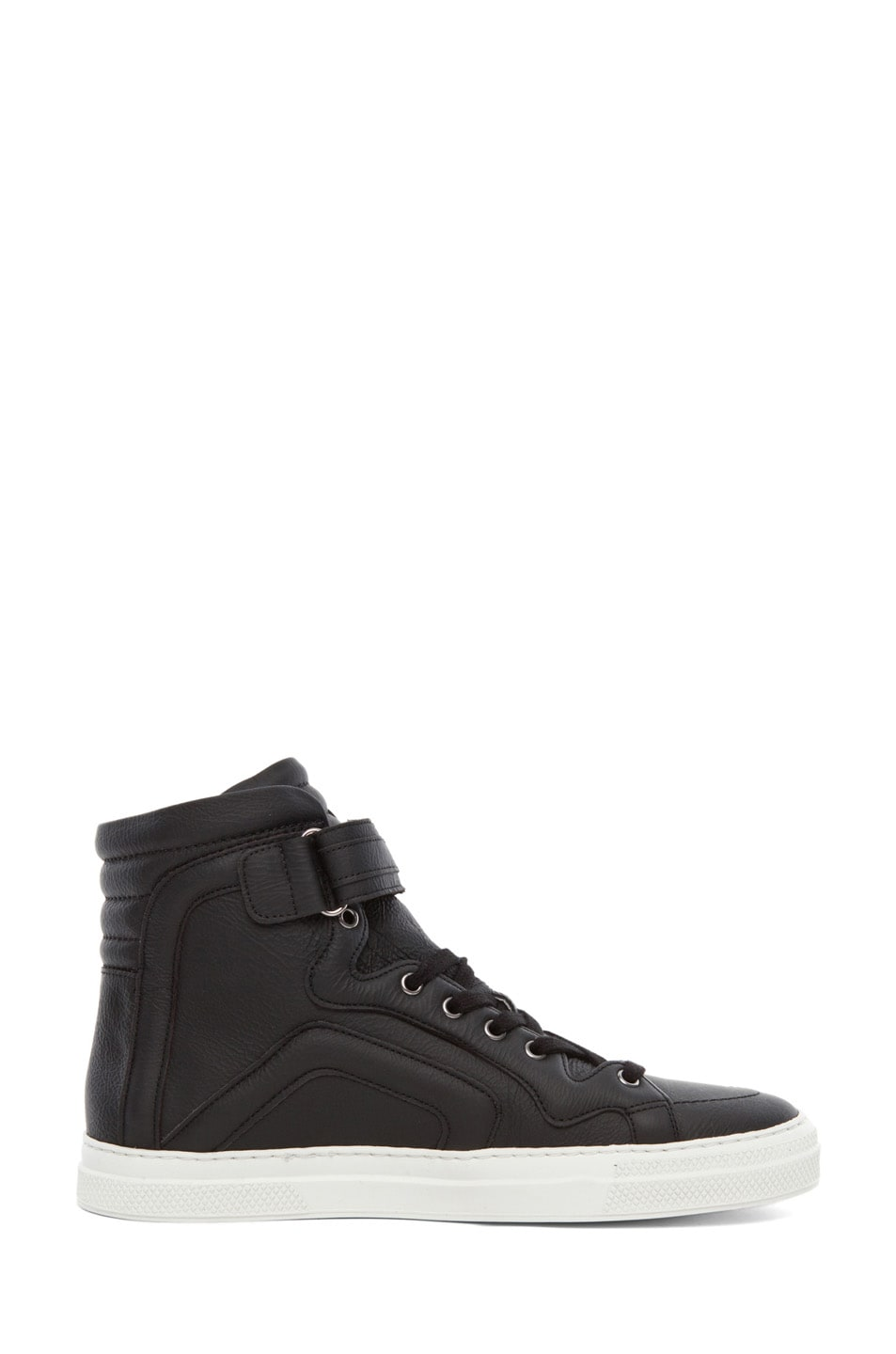 Image 5 of Pierre Hardy Paper Calf Hi Top Sneaker in Black