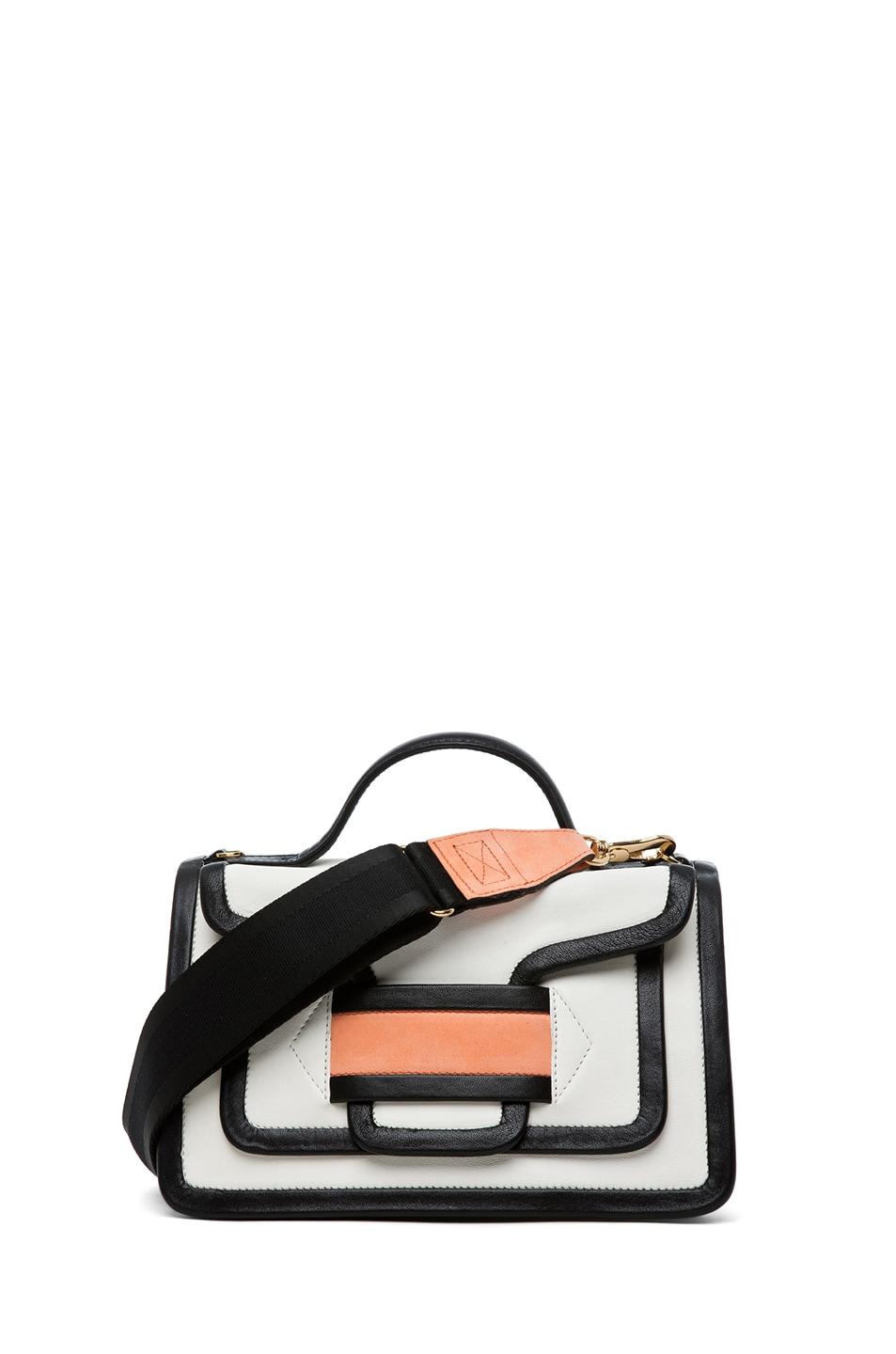 Image 1 of Pierre Hardy Satchel in White & Peach
