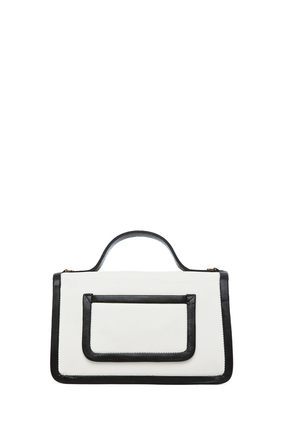 Image 2 of Pierre Hardy Satchel in White & Peach