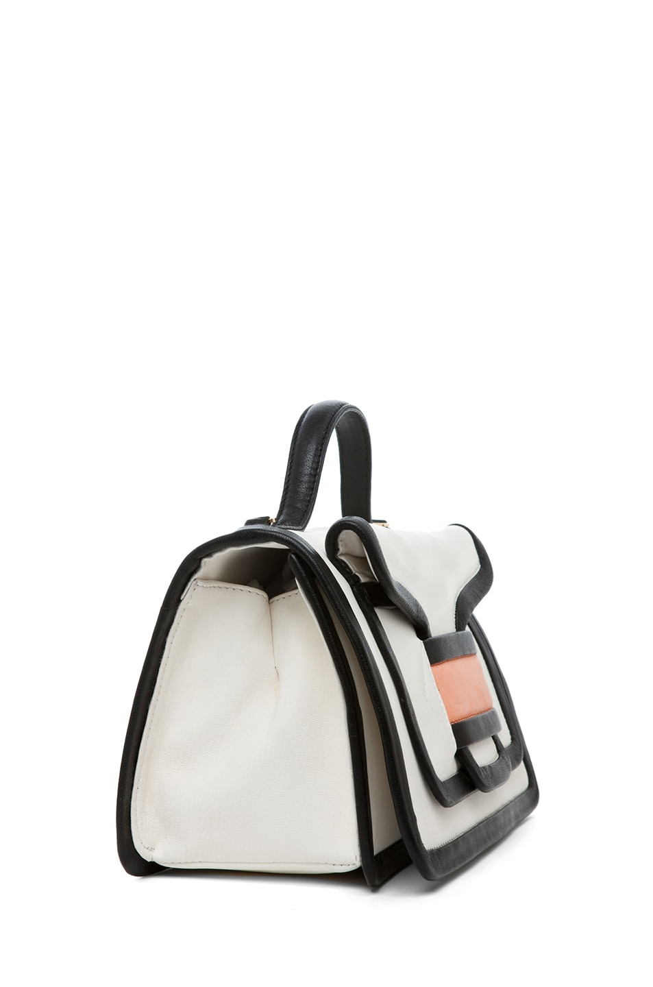 Image 3 of Pierre Hardy Satchel in White & Peach