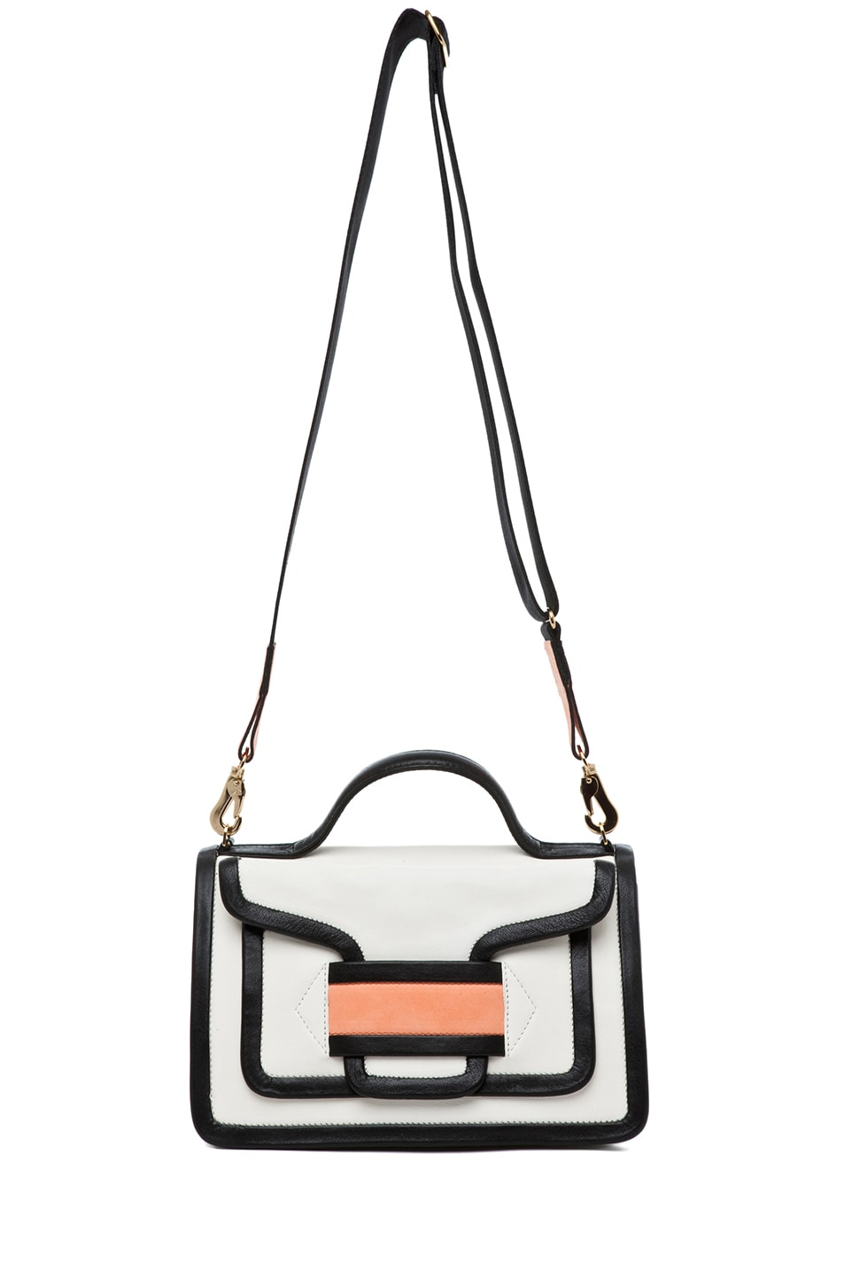 Image 5 of Pierre Hardy Satchel in White & Peach