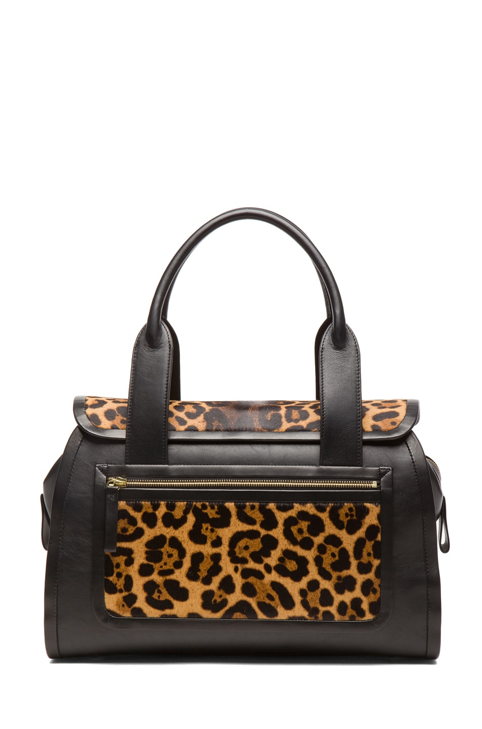 Image 2 of Pierre Hardy Leopard Calf Hair Tote in Natural & Black