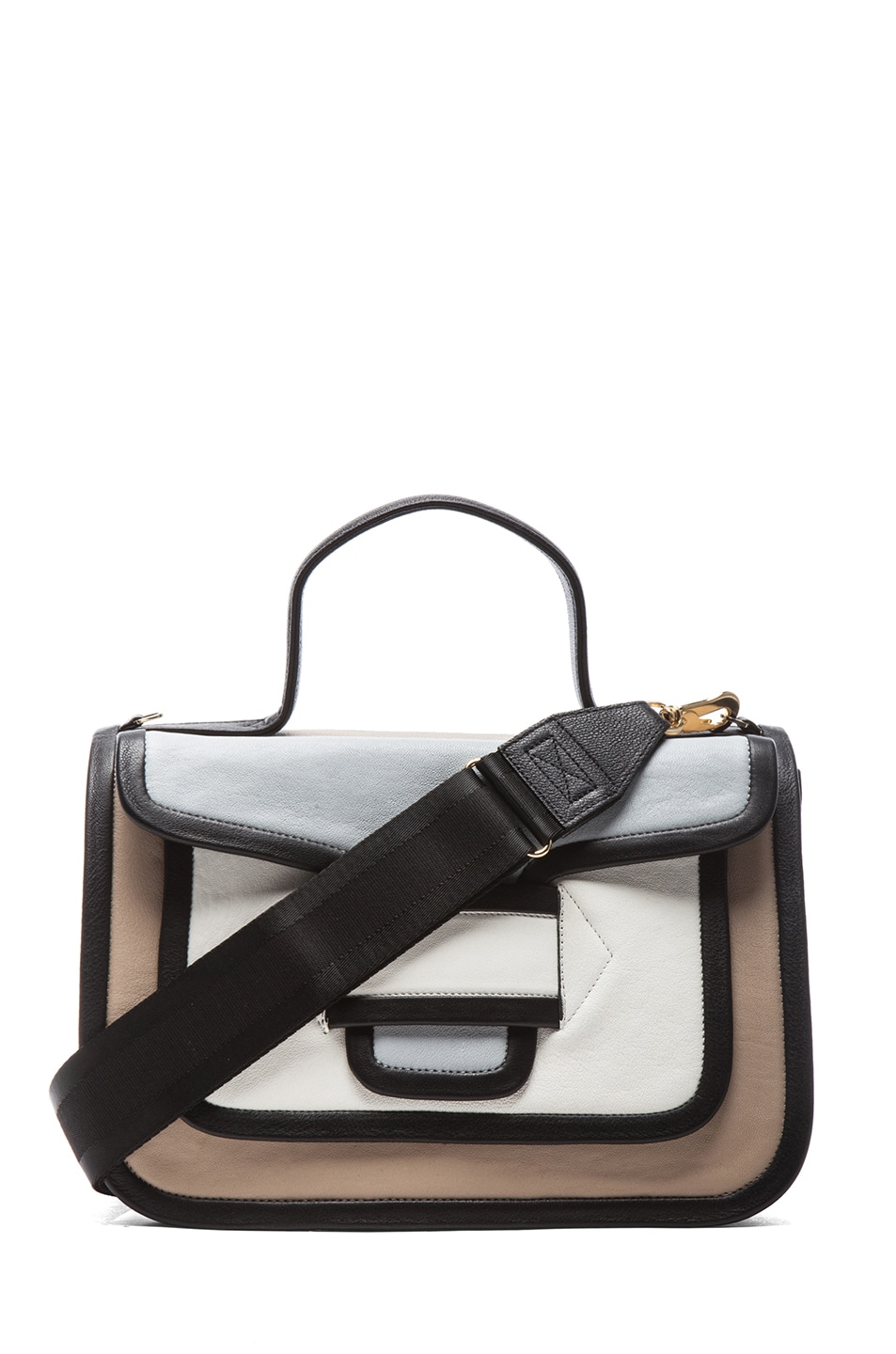 Image 1 of Pierre Hardy Large Bag in Multi Beige