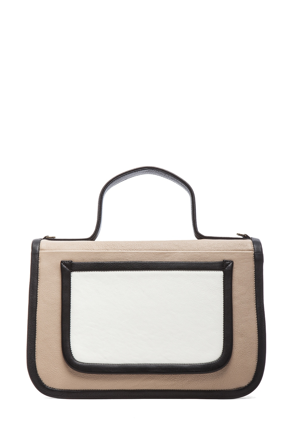 Image 2 of Pierre Hardy Large Bag in Multi Beige