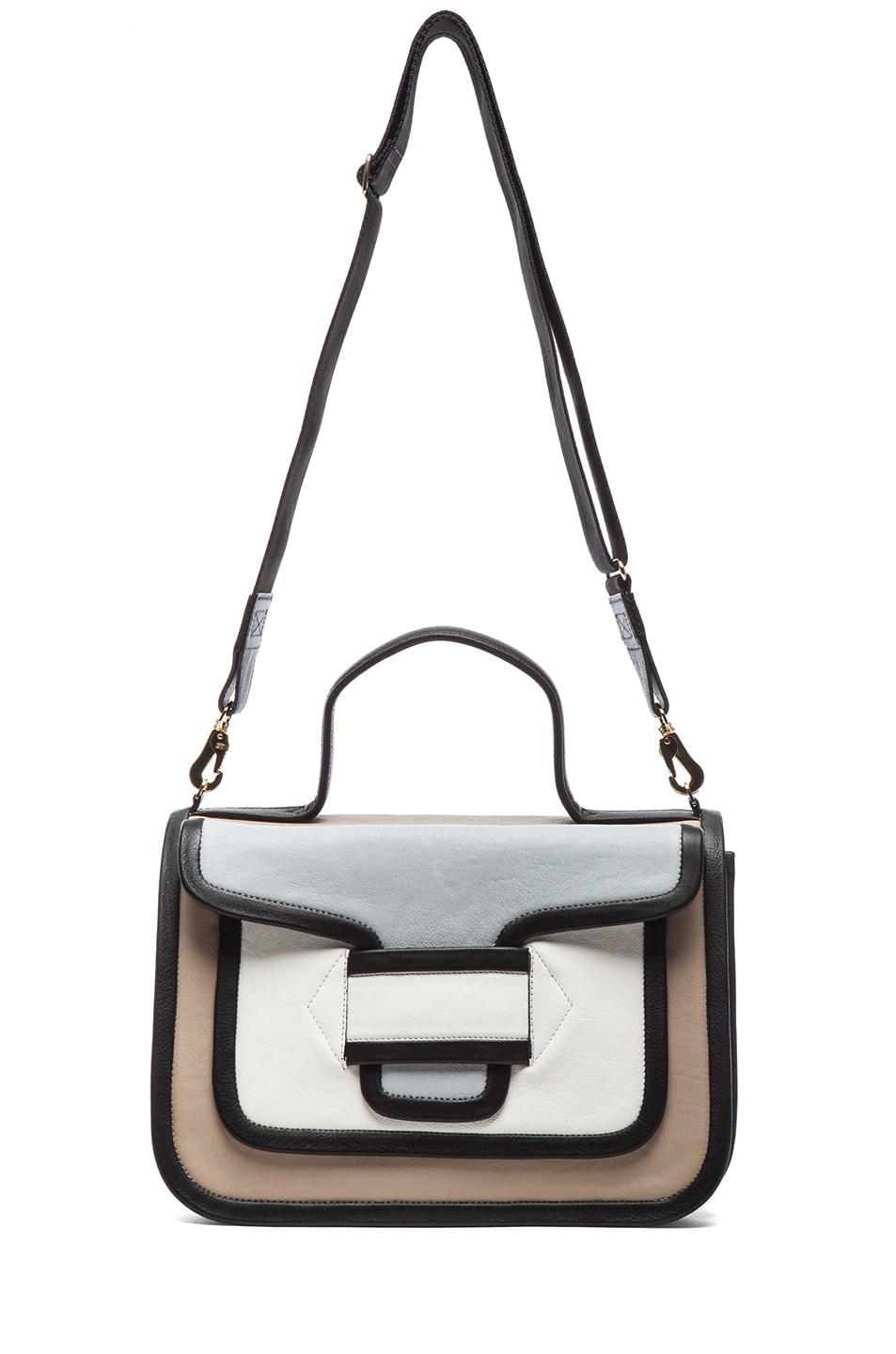 Image 5 of Pierre Hardy Large Bag in Multi Beige