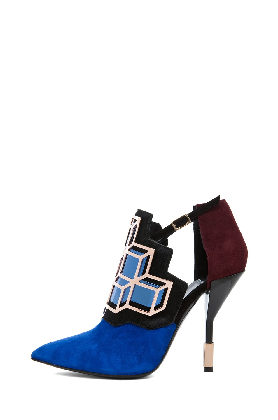 Image 1 of Pierre Hardy Suede Cube Bootie in Trico