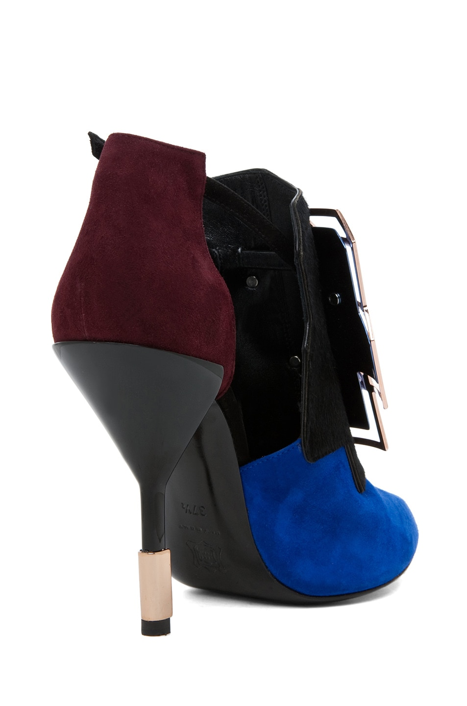 Image 3 of Pierre Hardy Suede Cube Bootie in Trico