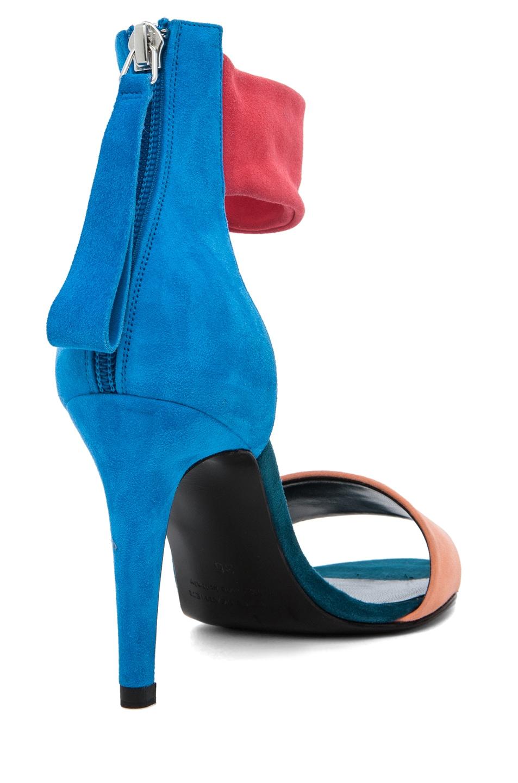 Image 3 of Pierre Hardy Suede Sandals in Quadri Peach