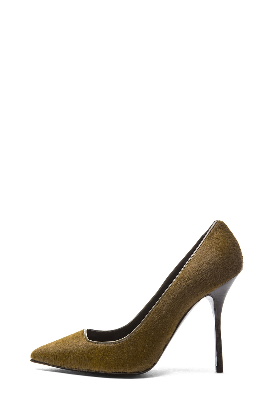 Image 1 of Pierre Hardy Calf Hair Pumps in Kaki