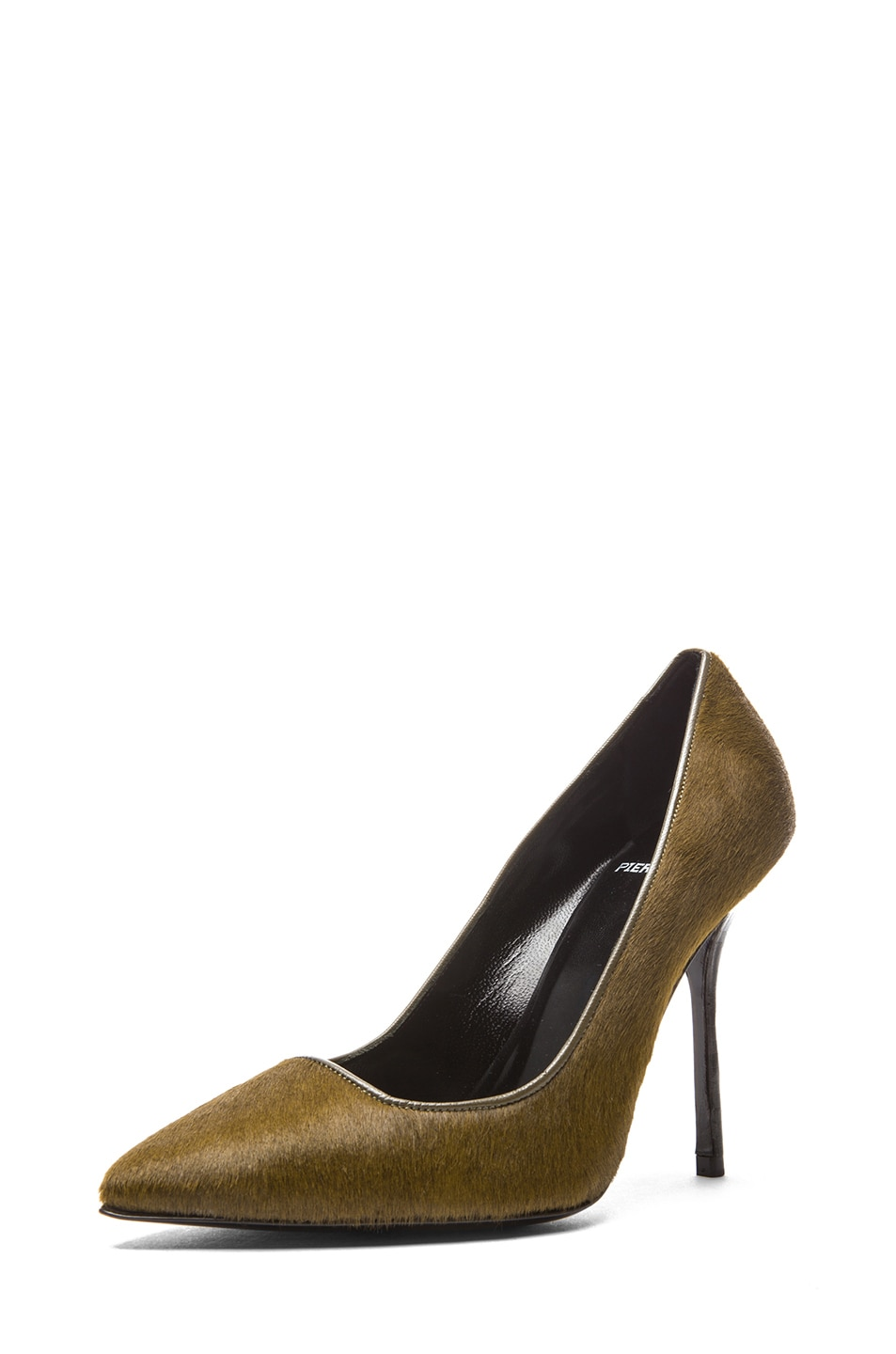 Image 2 of Pierre Hardy Calf Hair Pumps in Kaki