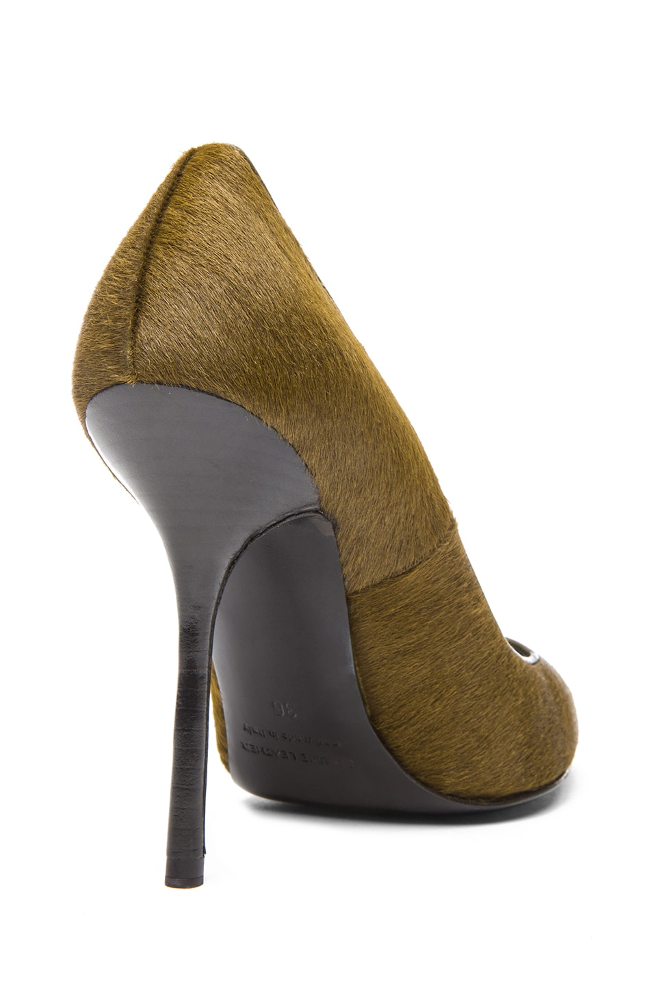 Image 3 of Pierre Hardy Calf Hair Pumps in Kaki