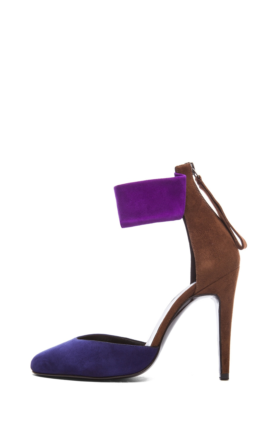 Image 1 of Pierre Hardy Altissimo Kid Suede Heels in Trico Blue