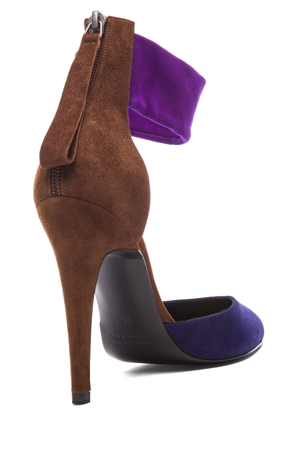 Image 3 of Pierre Hardy Altissimo Kid Suede Heels in Trico Blue