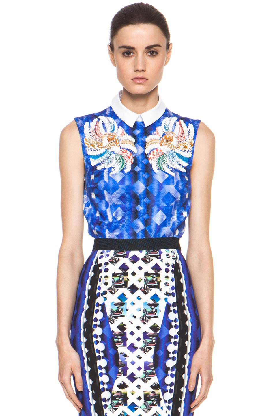 Image 1 of Peter Pilotto Blouse in Blue Multi