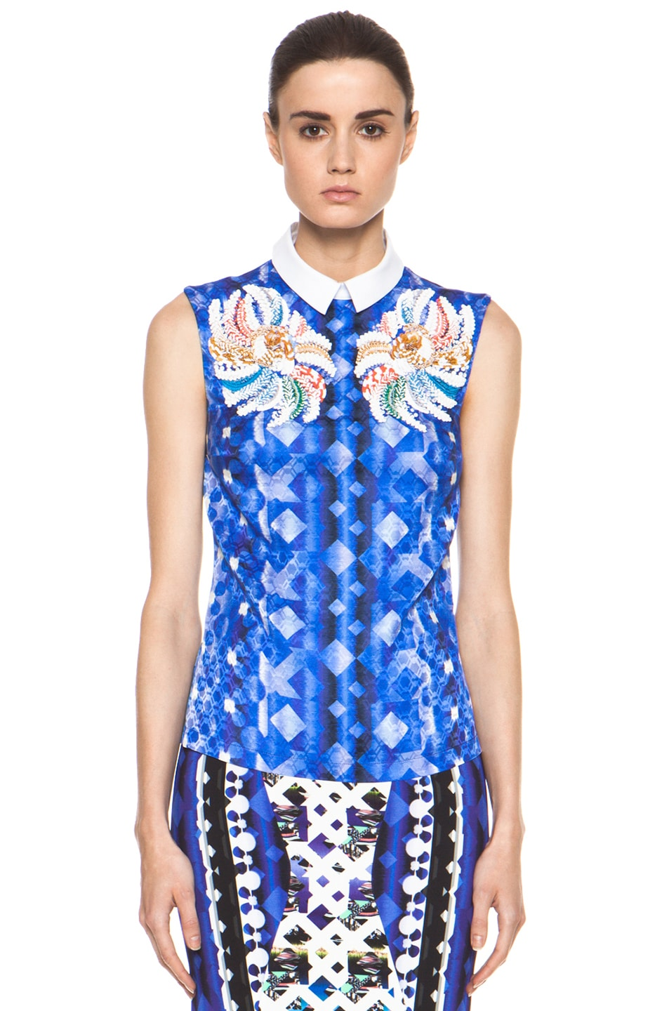 Image 2 of Peter Pilotto Blouse in Blue Multi