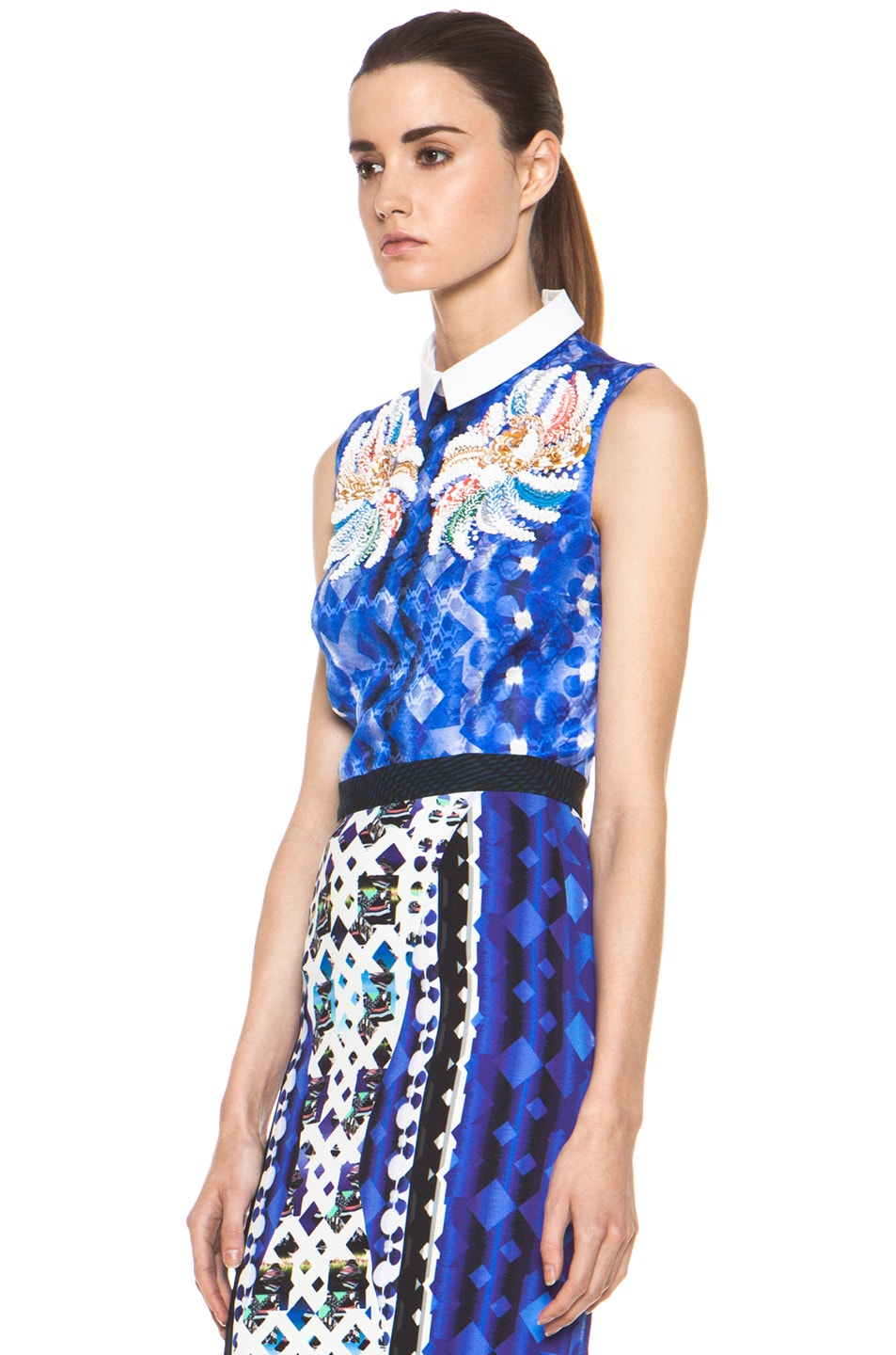 Image 3 of Peter Pilotto Blouse in Blue Multi