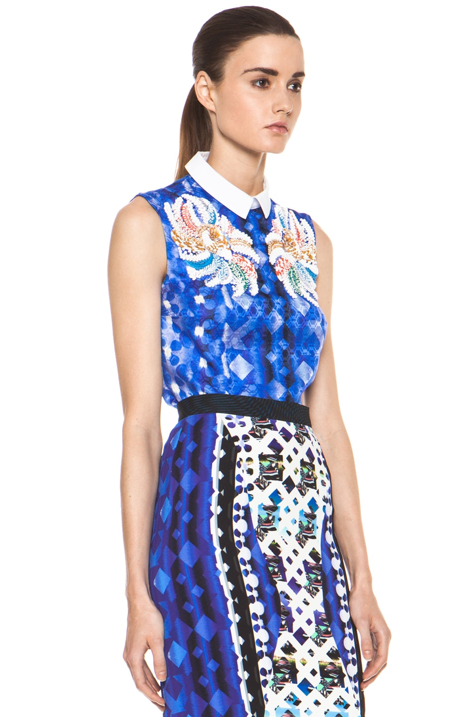 Image 4 of Peter Pilotto Blouse in Blue Multi
