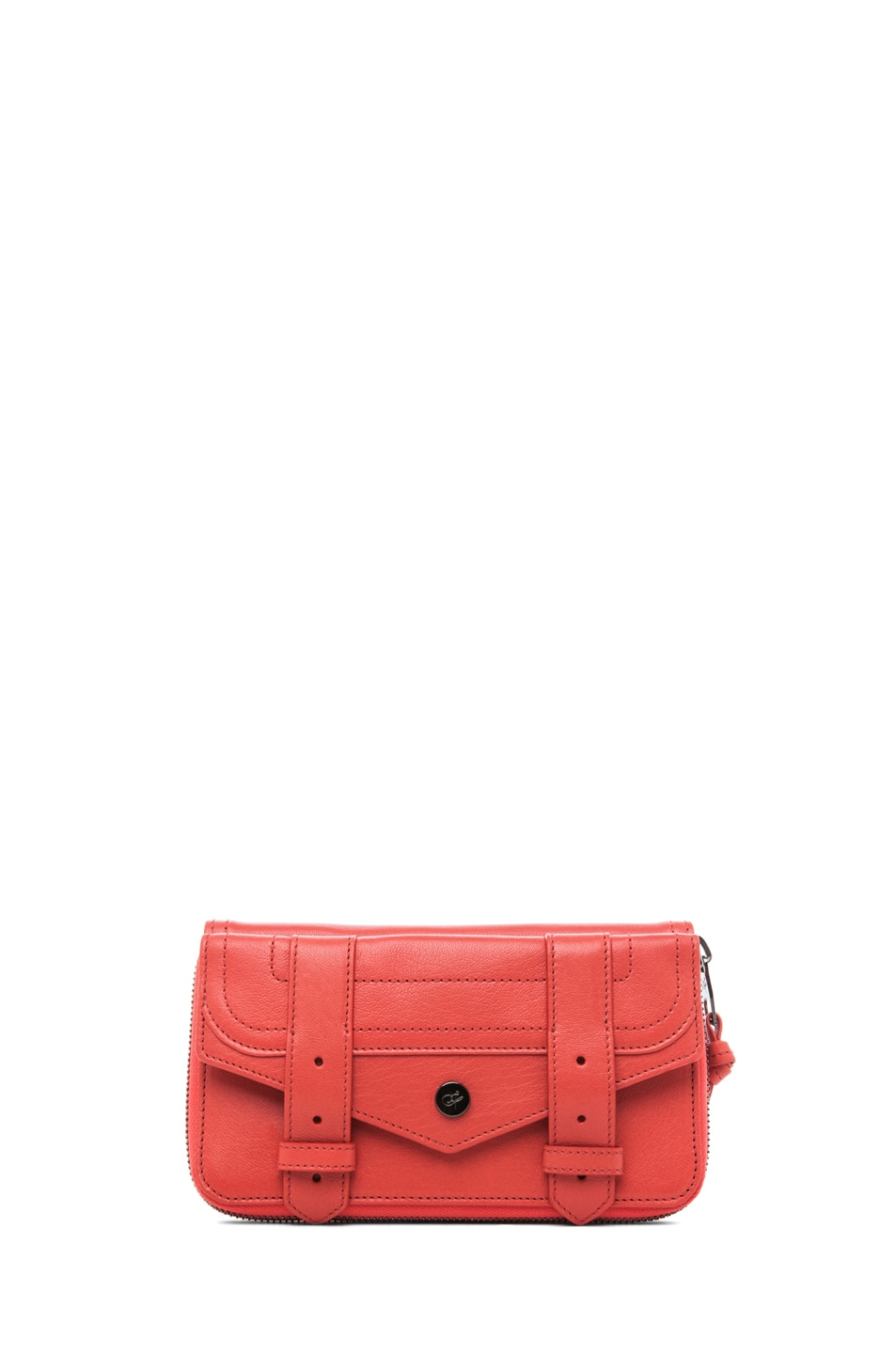 Image 1 of Proenza Schouler PS1 Large Zip Wallet in Deep Coral