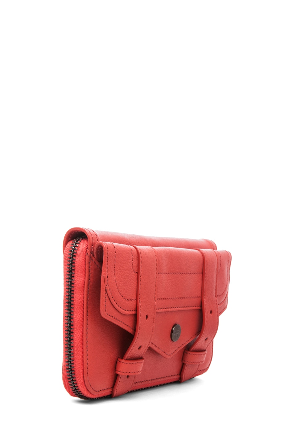 Image 3 of Proenza Schouler PS1 Large Zip Wallet in Deep Coral