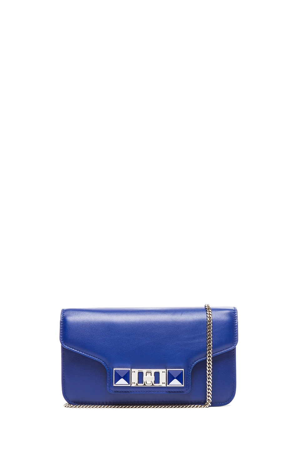 Image 1 of Proenza Schouler PS11 Smooth Calf Leather Chain Wallet in Royal Blue