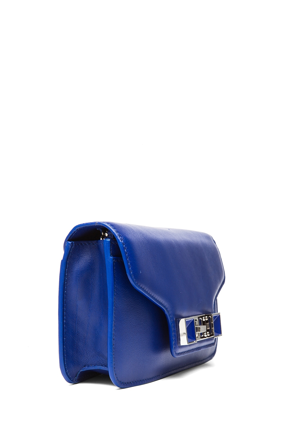 Image 3 of Proenza Schouler PS11 Smooth Calf Leather Chain Wallet in Royal Blue