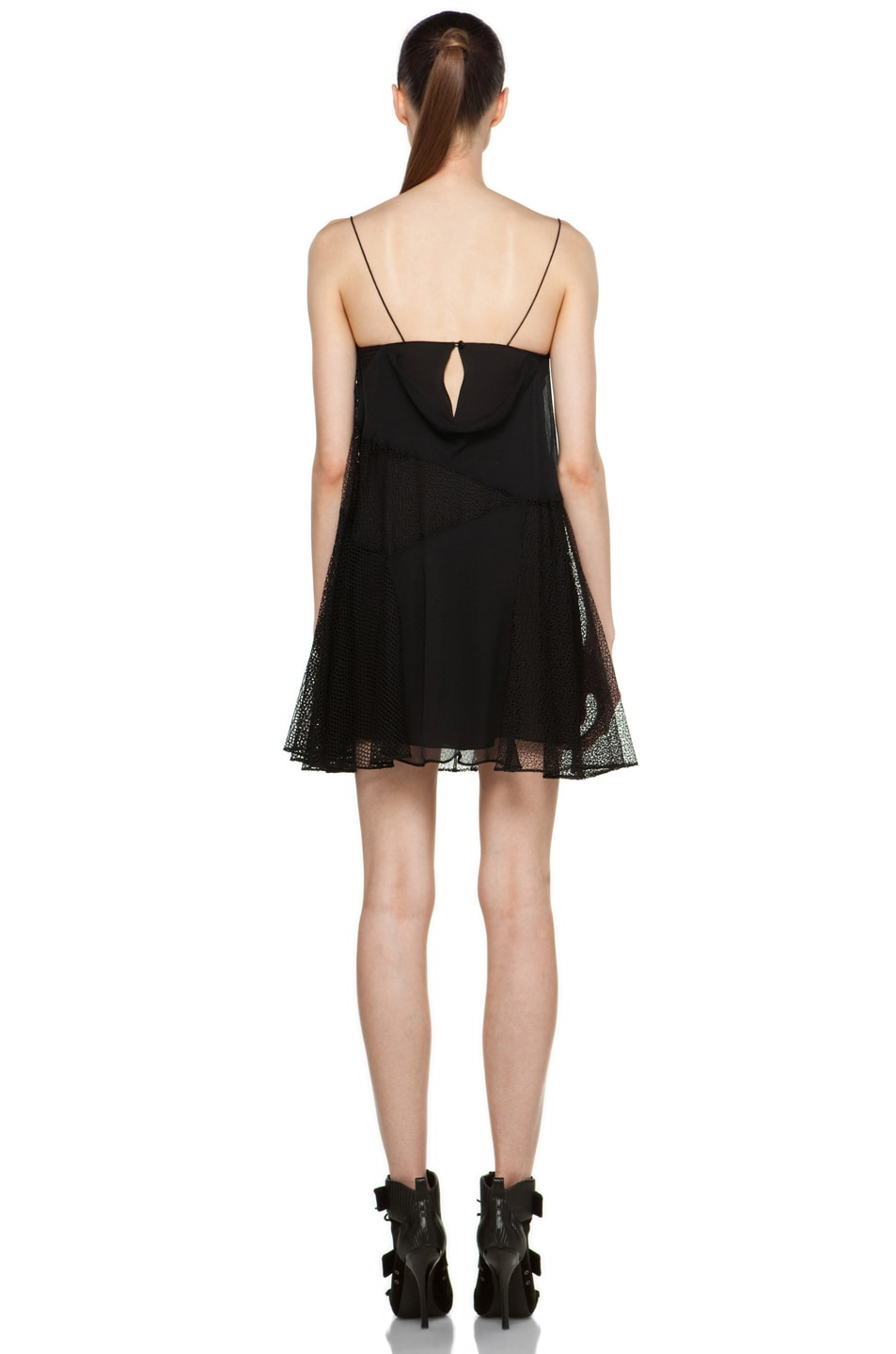 Image 4 of Proenza Schouler Cami Patchwork Dress in Black