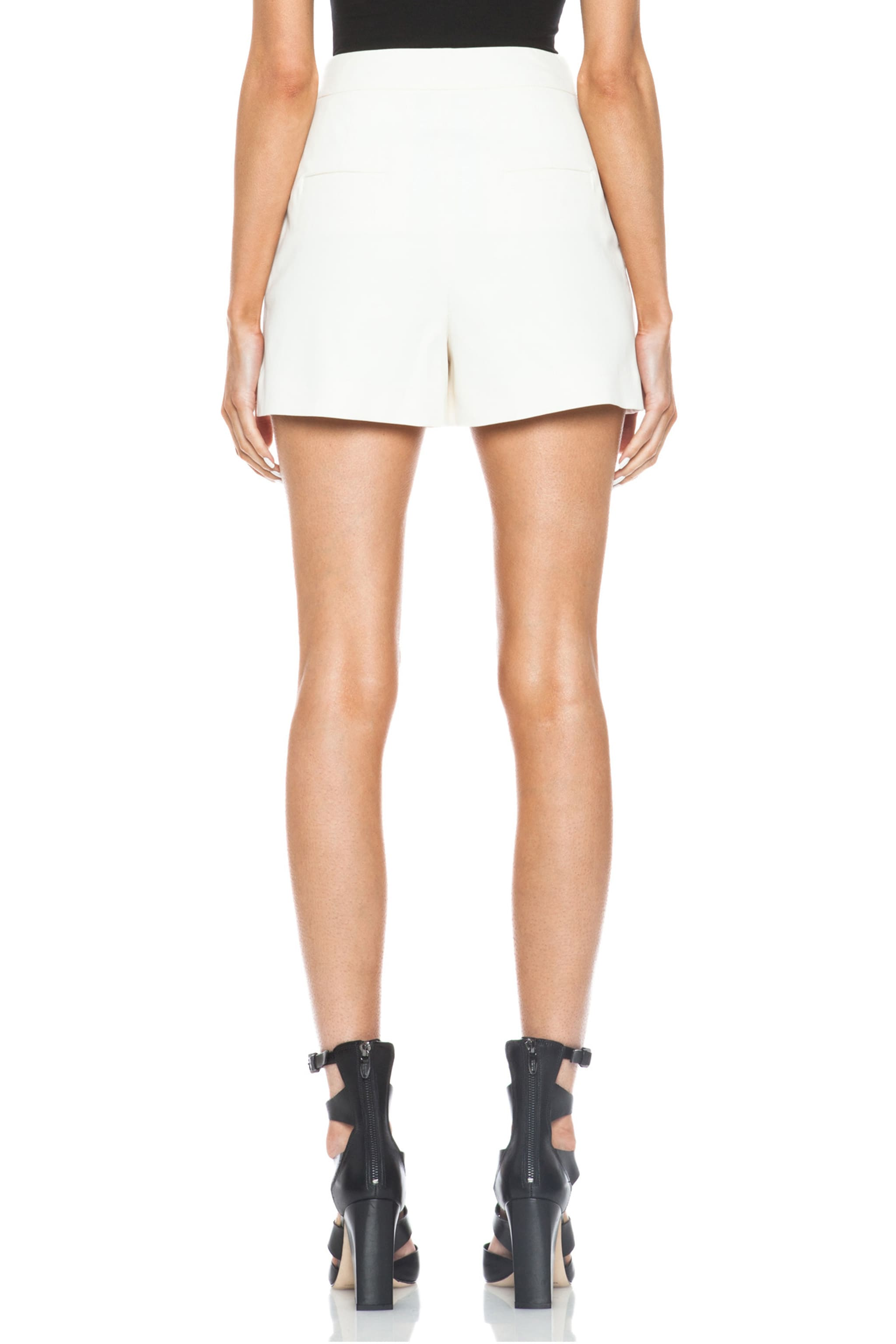 Proenza Schouler High Waisted Cotton-Blend Suiting Shorts in Off ...