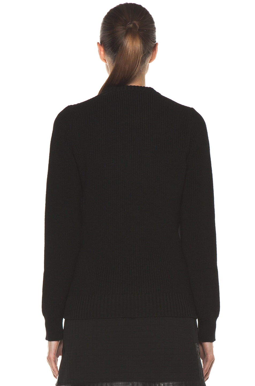Image 4 of Proenza Schouler Crewneck Side Zip Sweater in Black