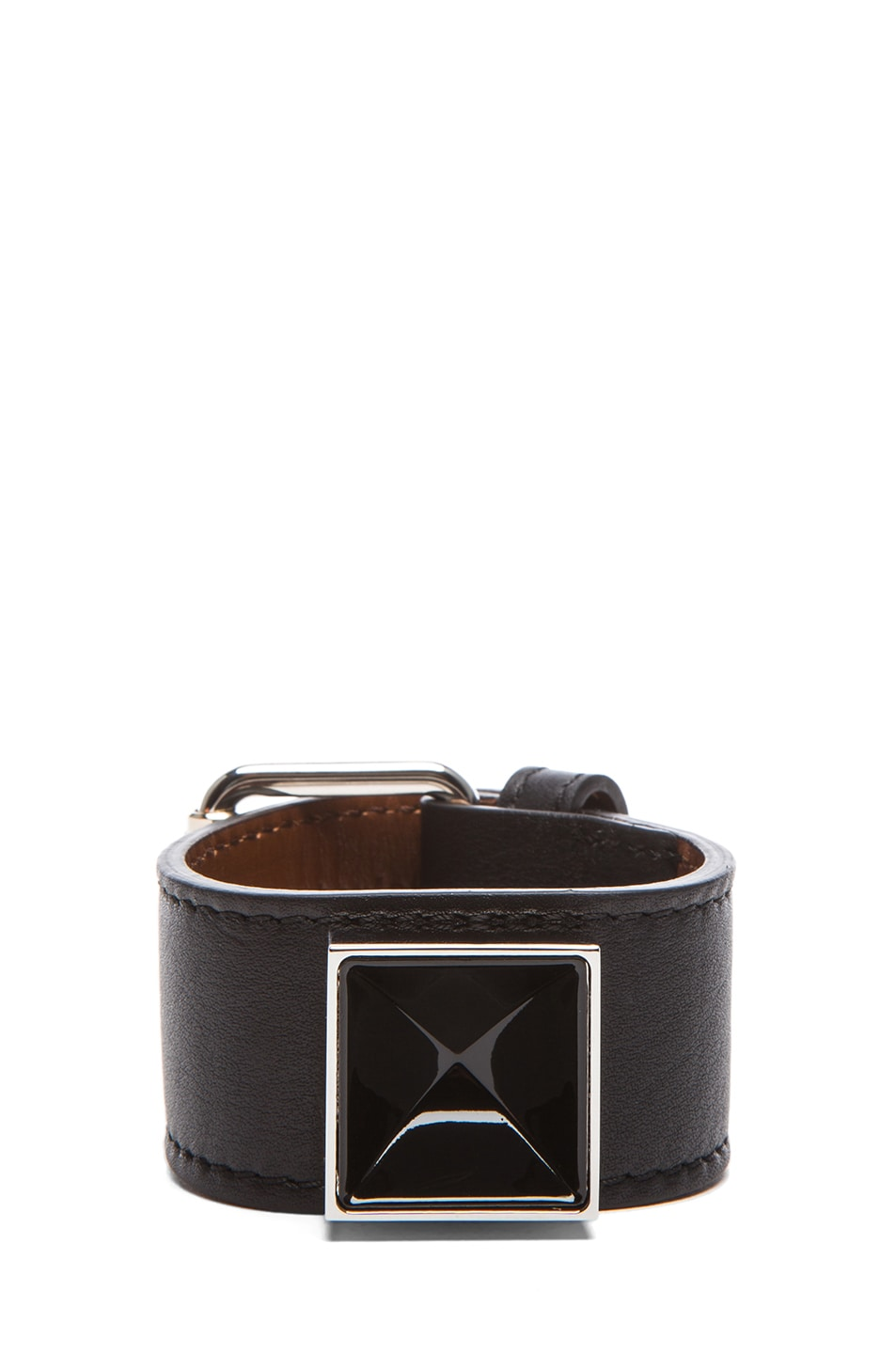 Image 1 of Proenza Schouler PS11 Leather Bracelet in Black