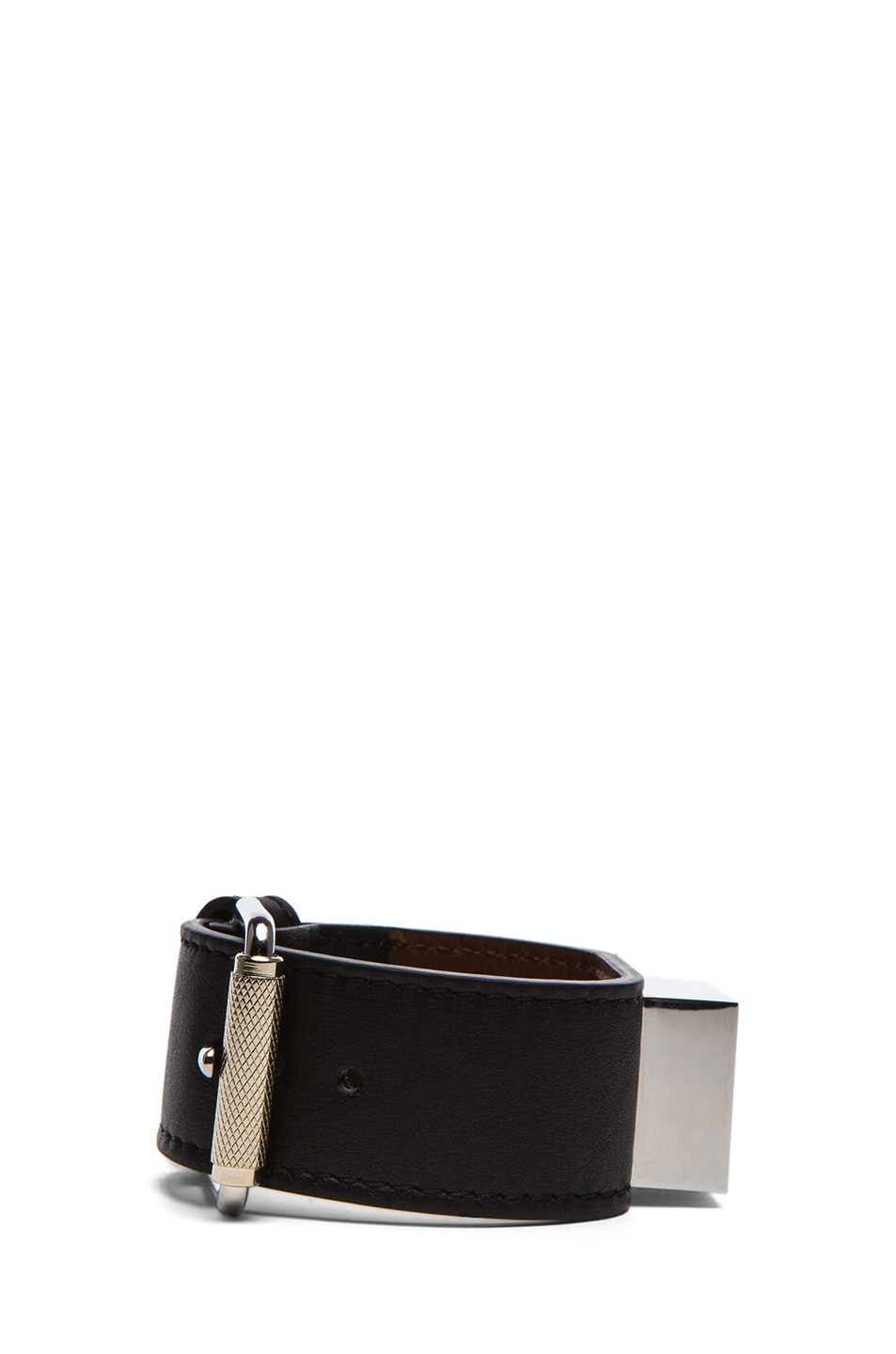 Image 2 of Proenza Schouler PS11 Leather Bracelet in Black