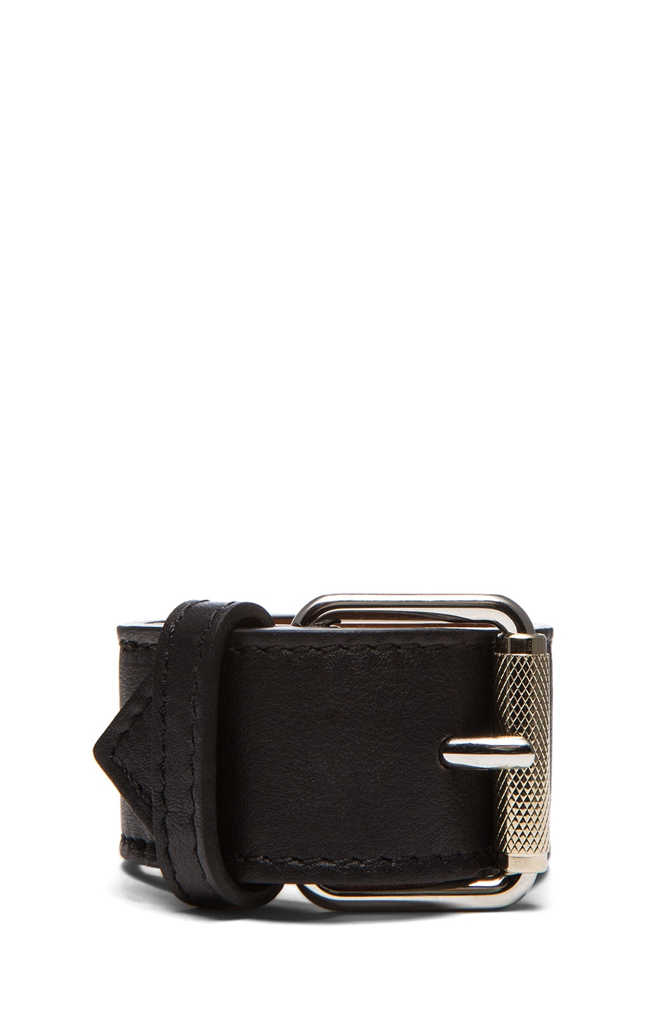 Image 3 of Proenza Schouler PS11 Leather Bracelet in Black