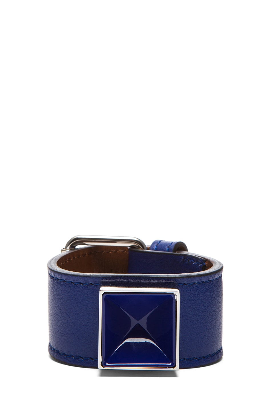 Image 1 of Proenza Schouler PS11 Leather Bracelet in Royal Blue