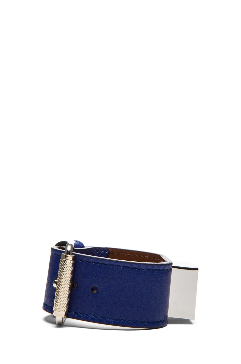 Image 2 of Proenza Schouler PS11 Leather Bracelet in Royal Blue