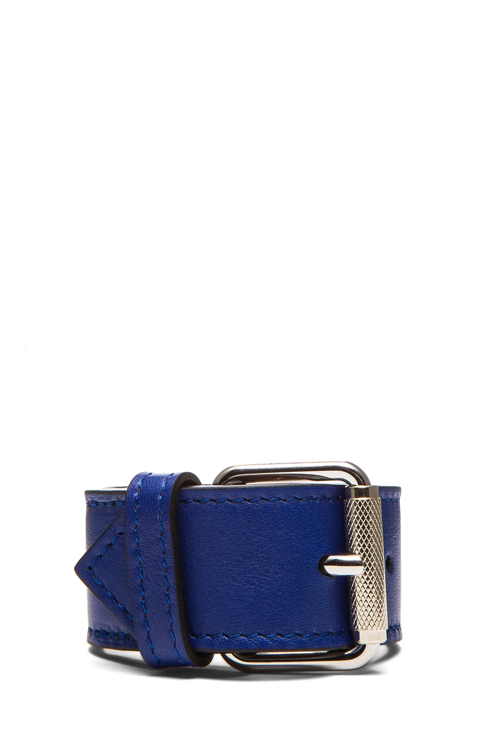 Image 3 of Proenza Schouler PS11 Leather Bracelet in Royal Blue