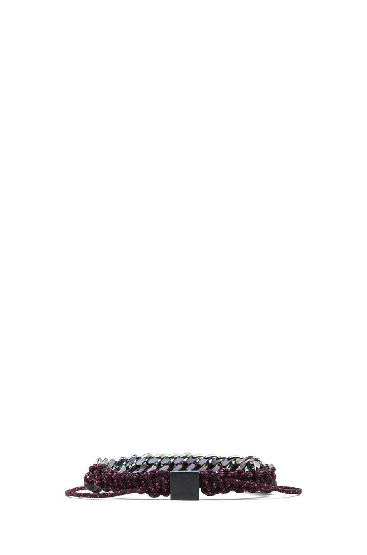 Image 3 of Proenza Schouler Guru Mixed Pearls and Chain Bracelet in Black & Black