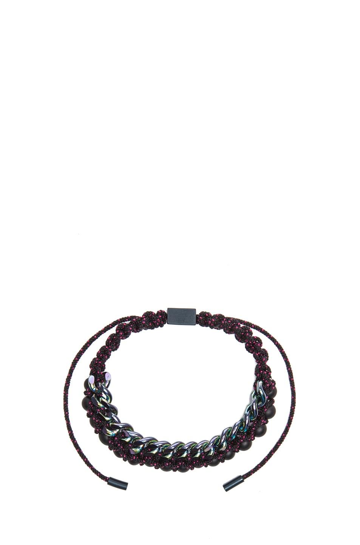 Image 4 of Proenza Schouler Guru Mixed Pearls and Chain Bracelet in Black & Black