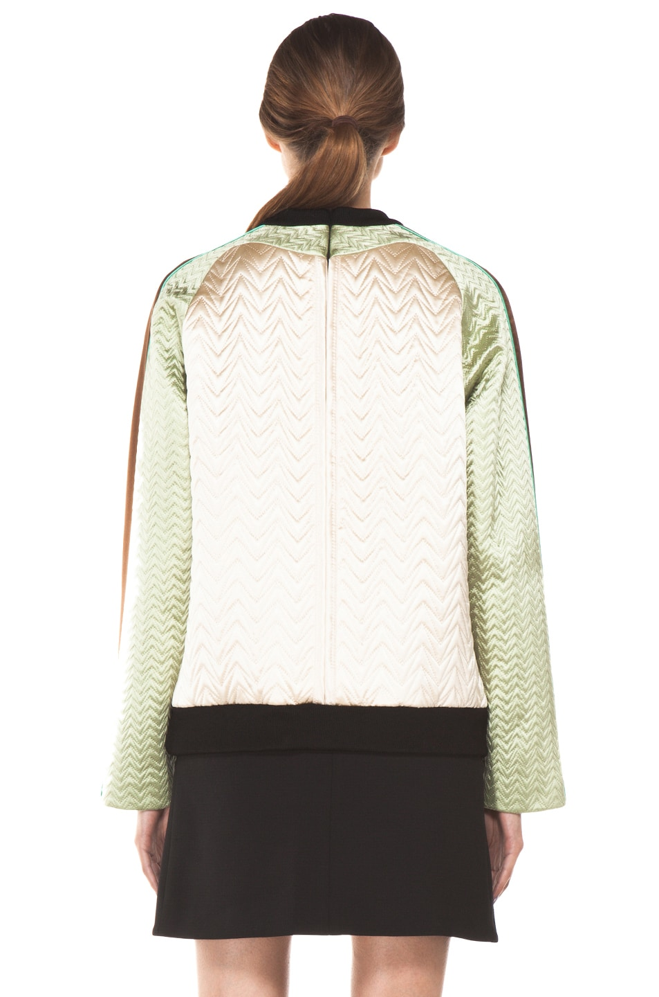Image 4 of Proenza Schouler Quilted Bird Silk Sweatshirt in Bone